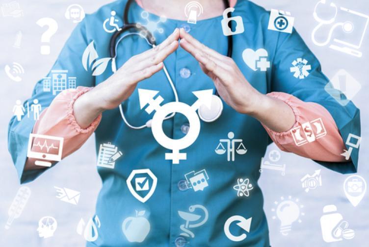 Doctor demonstrating safety for transgender patients